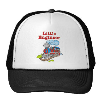 Red and Blue Train Little Engineer Trucker Hat
