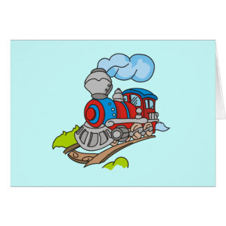 Red and Blue Train Tshirts and Gifts Greeting Card