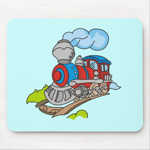 Red and Blue Train Tshirts and Gifts Mousepads