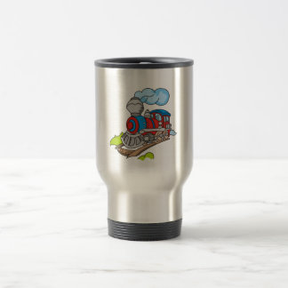 Red and Blue Train Tshirts and Gifts 15 Oz Stainless Steel Travel Mug