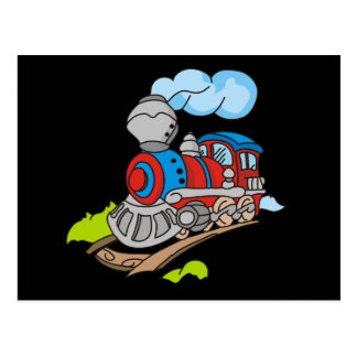 Red and Blue Train Tshirts and Gifts Postcard