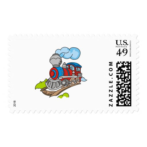 Red and Blue Train Tshirts and Gifts Stamps