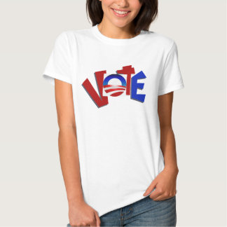 Red And Blue Vote For Obama Campaign T-shirt 2012