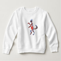 Red And Blue Walking Cat Sweatshirt