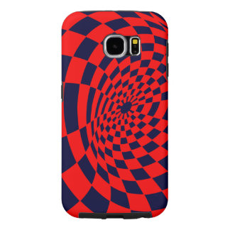 Red and Blue Warped Checkerboard Samsung Galaxy S6 Cases
