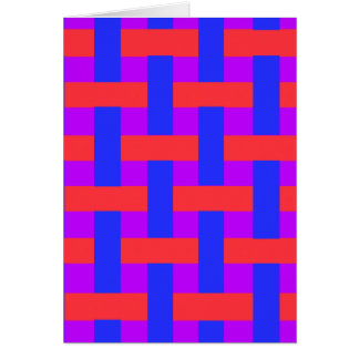 Red and Blue Woven Card