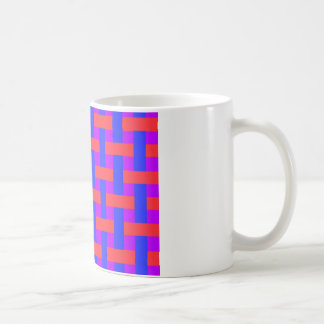 Red and Blue Woven Coffee Mug
