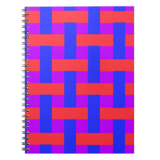 Red and Blue Woven Notebook