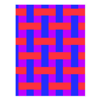 Red and Blue Woven Postcard