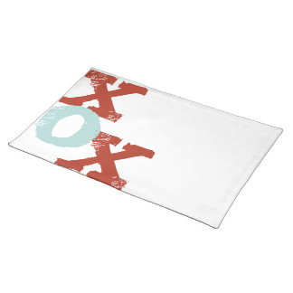 Red and Blue XOX Placemat