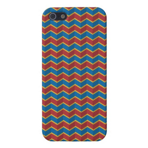 Red And Blue Zig Zag Pattern Case For iPhone 5