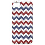 Red and Blue Zig Zag Pattern iPhone 5 Cases