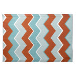 Red and Blue Zig Zag Pattern Placemat