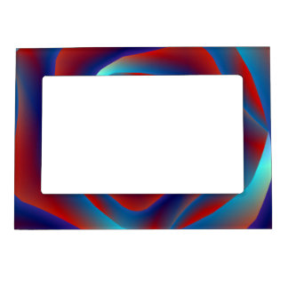 Red and Blues Spiral Rose 5x7 Magnetic Frame