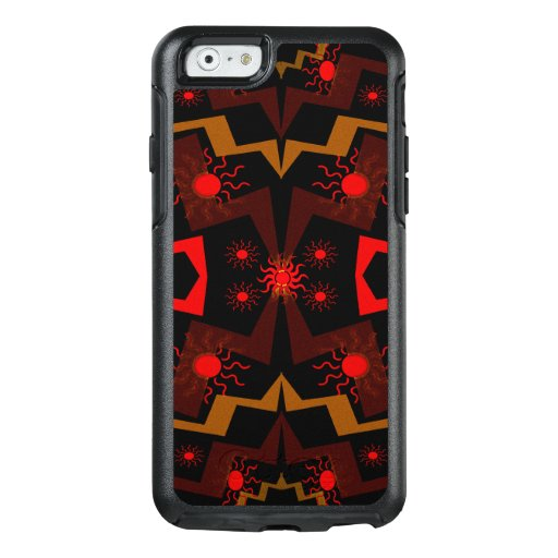 Red and Brown Abstract OtterBox iPhone 6/6s Case