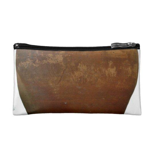 Red and Brown clay pot Makeup Bag