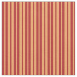 [ Thumbnail: Red and Brown Colored Striped/Lined Pattern Fabric ]