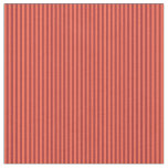 [ Thumbnail: Red and Brown Colored Striped Pattern Fabric ]