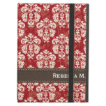 Red and Brown Damask iPad Air Cover