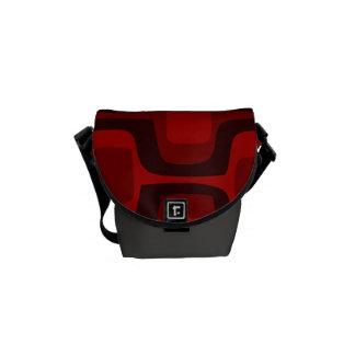 Red and Burgundy Retro Pattern Mini Messenger Bag