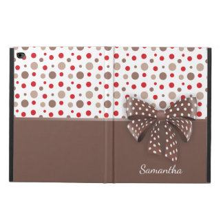 Red and Cappuccino Polka Dots and Chocolate Ribbon Powis iPad Air 2 Case