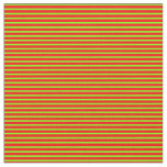 [ Thumbnail: Red and Chartreuse Lines Fabric ]