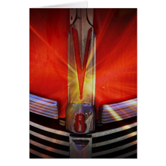 Red and Chrome V8 Greeting Card
