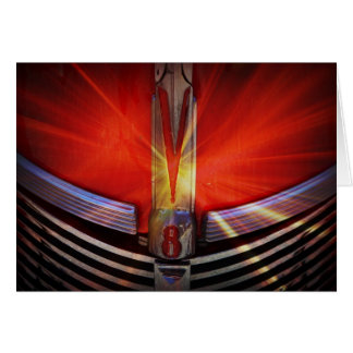 Red and Chrome V8 Card