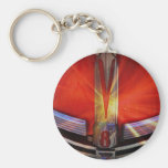 Red and Chrome V8 Key Chain