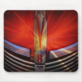 Red and Chrome V8 Mouse Pads