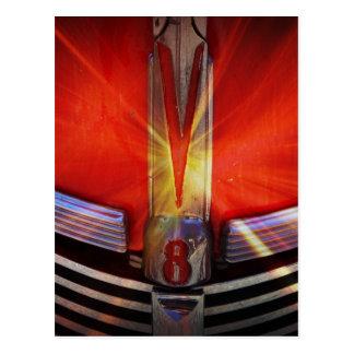 Red and Chrome V8 Postcard