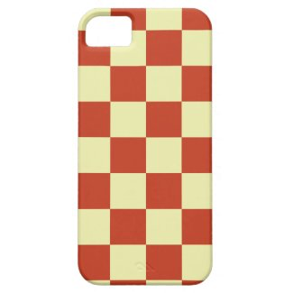 Red and Cream Checkered iPhone 5 Covers