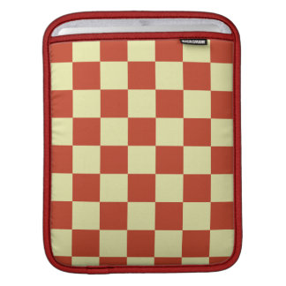 Red and Cream Checkered Sleeve For iPads