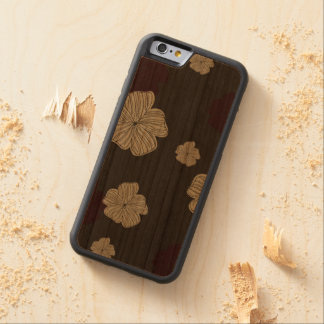 Red and Cream Floral Carved® Cherry iPhone 6 Bumper Case