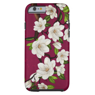 Red And Cream Magnolia iPhone 6, Tough Tough iPhone 6 Case