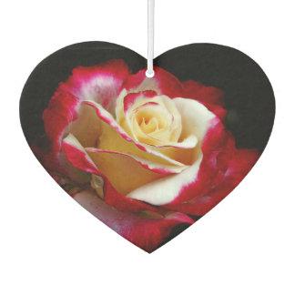 Red and cream rose air freshener
