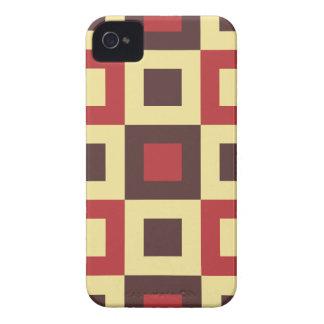 Red and Cream Square Box Geometric Original Design iPhone 4 Cover