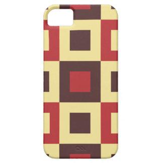 Red and Cream Square Box Geometric Original Design iPhone SE/5/5s Case