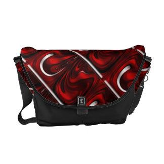 Red and cream swirls messenger bag