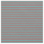 [ Thumbnail: Red and Cyan Pattern of Stripes Fabric ]