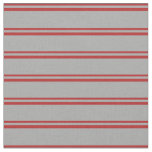 [ Thumbnail: Red and Dark Gray Stripes Fabric ]