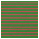 [ Thumbnail: Red and Dark Green Colored Pattern of Stripes Fabric ]