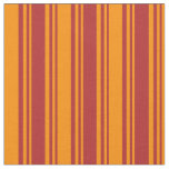 [ Thumbnail: Red and Dark Orange Colored Lines Fabric ]