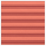 [ Thumbnail: Red and Dark Red Lined/Striped Pattern Fabric ]