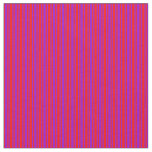 [ Thumbnail: Red and Dark Violet Colored Lined/Striped Pattern Fabric ]