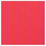 [ Thumbnail: Red and Deep Pink Pattern of Stripes Fabric ]