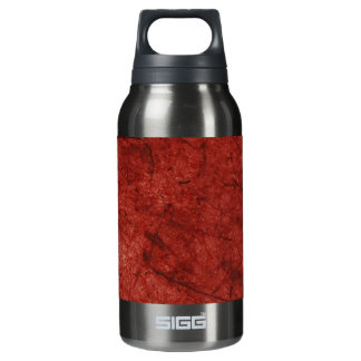 Red and Deep Red Paper Pattern Insulated Water Bottle