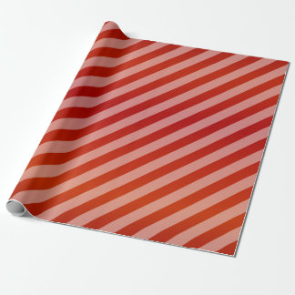 Red and Diagonal Stripes Wrapping Paper