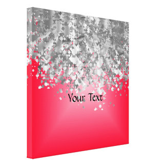 Red and faux glitter canvas print