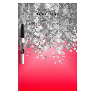 Red and faux glitter dry erase board